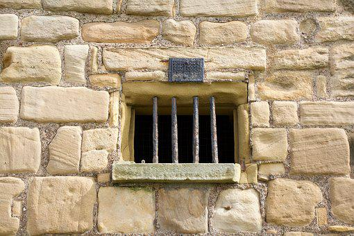 Priory Window, Bars, Ancient, Brick, Building, History