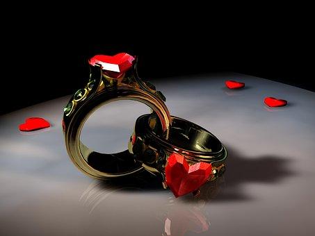 Rings, Heart, Love, Symbol, Connectedness, Romance