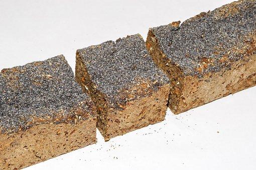 Rye Bread, Blue Poppy Seeds, Food, Dining, Taste