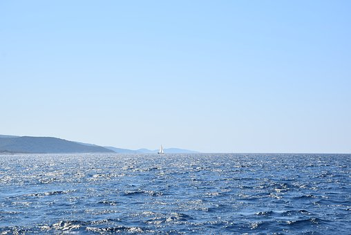 Water, Shimmering Water, Croatia, Sailing, Sun, Waves