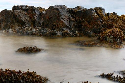 Sea, Ireland, Stones, Long Exposure, Rock, Water, Coast