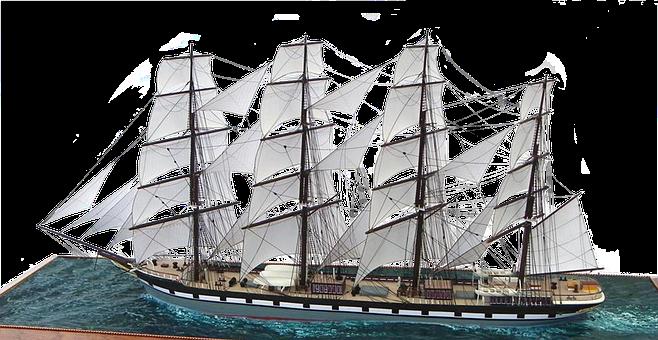 Sailing Ship Free, Boot, Water, Lake, Sea, Wood