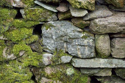 Stone Wall, Moss, Texture, Rock, Lichen, Stone