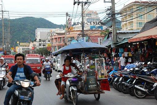 Asia, Thailand, Matvagn, Patong