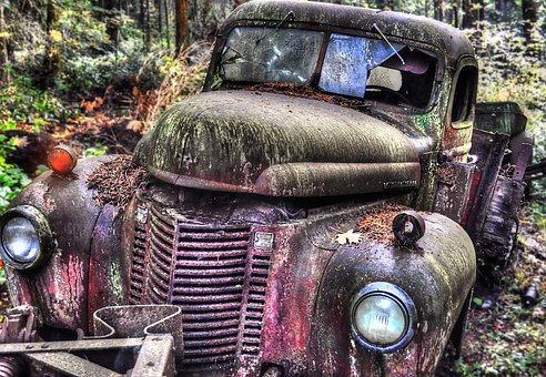 Car, Abandoned, Vehicle, Old, Vintage, Automobile