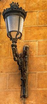 Old, Vintage, Spanish, External, Wall Lamp, Light