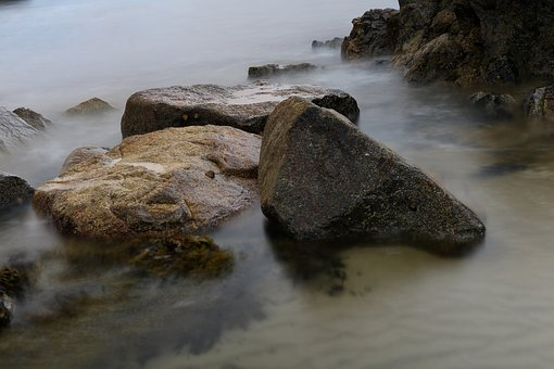 Rock, Sea, Coast, Surf, Water, Beach, Nature, Blue