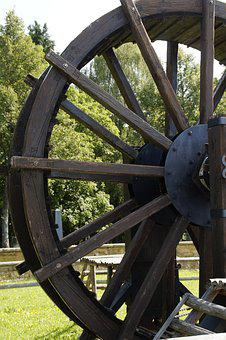 Wheel, Wooden Wheel, Ancient Drive, Old, Spokes, Wood