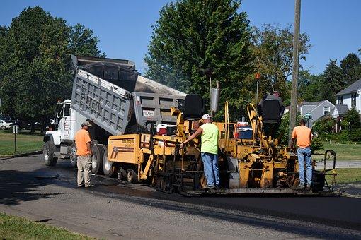 Road, Paving, Truck, Asphalt, Street, Pavement, Pave