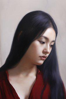 China, Oil Painting, Beauty