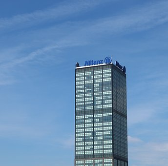 Tower, Office, Building, Sky, Blue, Berlin