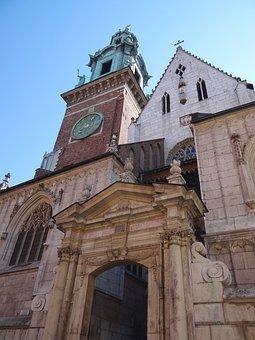 Krakow, Poland, Church, Tower, Europe, Facade, Tourism
