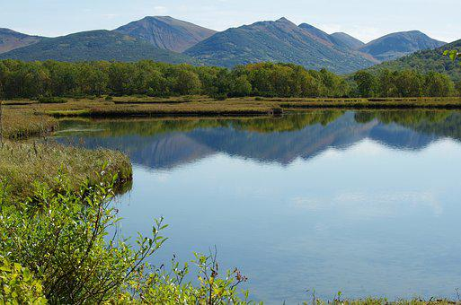 Lake, Mountains, Forest, Reflection, Greens, Birch