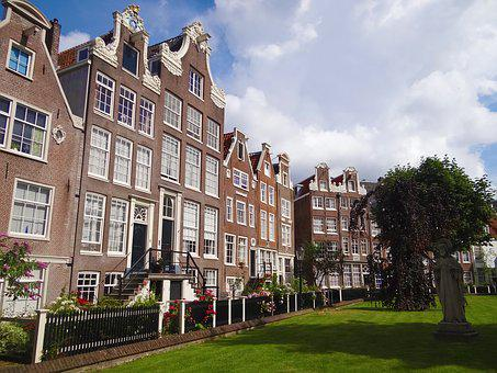 Amsterdam, Home, Brick, Square, Europe, Apparent Brick
