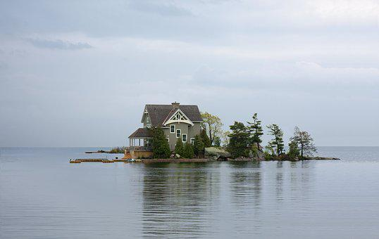 House, Home, Lake, Cottage, Vacation, Island, Country