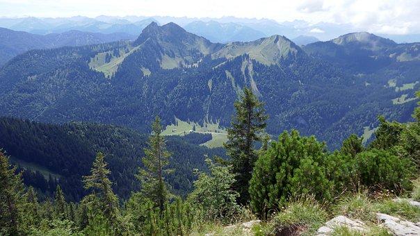Hiking, Mountain, Summit, View, Tegernsee, Jelenia Góra