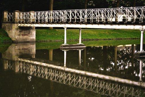 Bridge, Karlsaue, Kassel, Orangery, Building, City Park