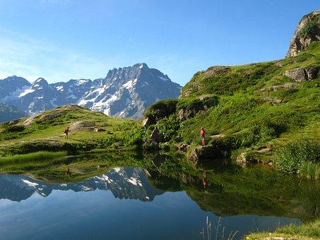Lake, Mountain, Mountain Lake, Nature, Landscape