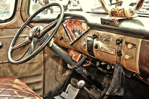 Usa Cars, Oldtimer, Pick Up, Old, Historically