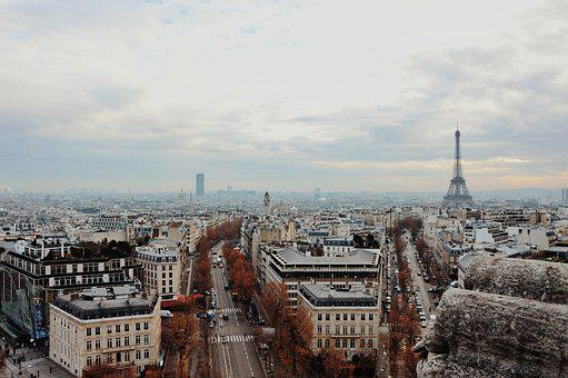 Paris, Landscape, Vista, Trip, Blue Sky, Holiday