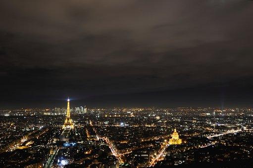 City, Vista, Paris, Monument, Night, City View