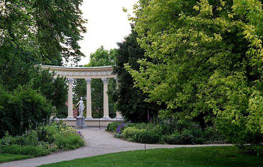 Park, Column, Statue, Venus, Mythological, Ancient