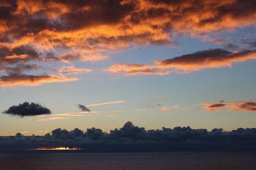Sunset, Pink, Orange, Sky, Nature, Blue, Cloud