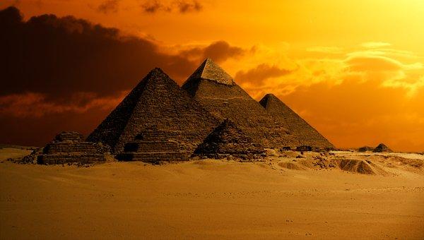 Pyramid, Sky, Desert, Ancient, Egypt, Monument