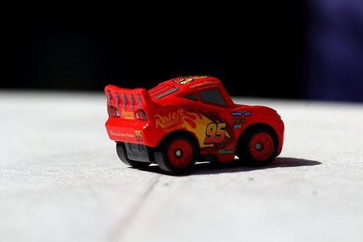 Ray, Toy, Miniature, Scale, Auto, Car, Red, Vehicle