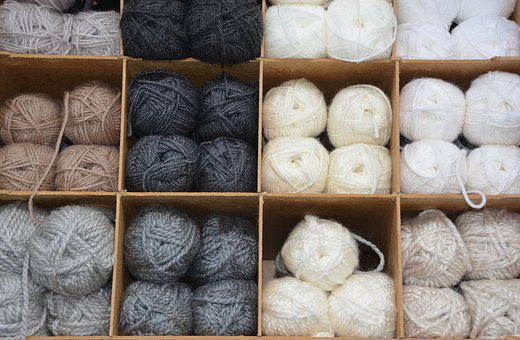 Balls Of Wool, Colors, Grey, White, Ecru, Shades, Brown