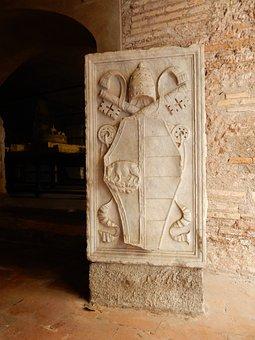 Stone Tablet, Borgia, Family, Coat Of Arms, Bull