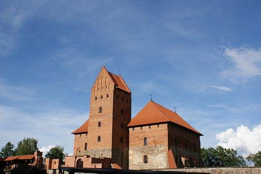 Lithuania, Trakai, Castle, Historical, Medieval