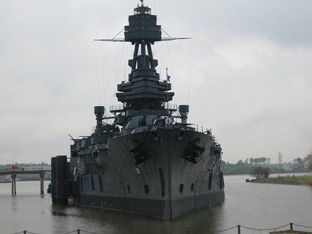 Battleship, Texas, Ship, Military, War, Vessel, Warship