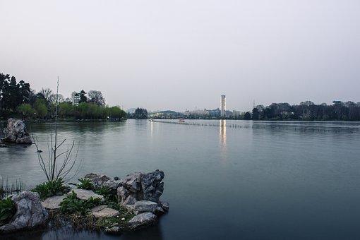 Xuanwu Lake, Twilight, Water Features