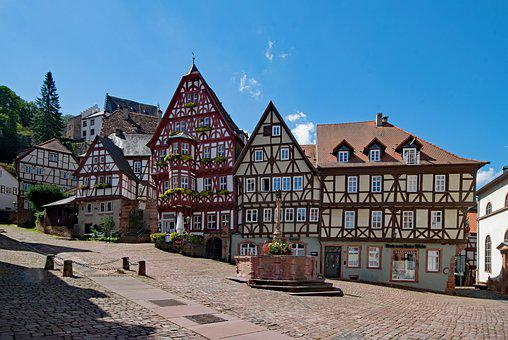 Marketplace, Miltenberg, Odenwald, Bavaria