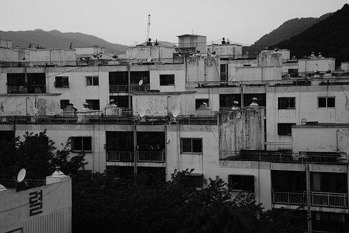 Apartments, Black And White, Fear, Antiquity
