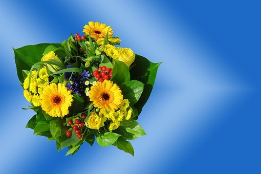 Emotions, Flowers, Bouquet, Greeting Card