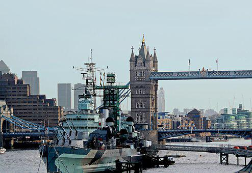 London, Themes, Bridge, Ship, River, Britain, England