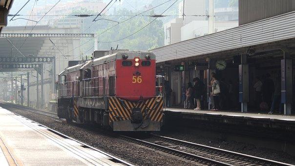 Hongkong, Train, City, Transportation, Asian, Hong