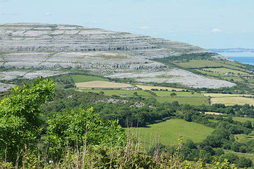 View Of The Burren, Limestone Rock Formation, Co, Clare