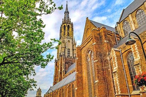 Cathedral, Church, Protestant, Religion, Delft