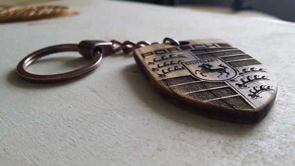 Porsche, Design, Wood, Art, Cabinetmaker, Keyring