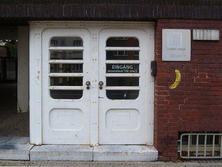 Entrance Door, Aachen, Museum, Art, Ludwig-forum