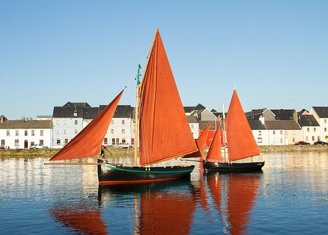 Galway Hookers, Traditional Sailing Boats, Galway