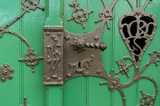 Door, Castle, Fitting, Old Door, Wood, Goal, Input