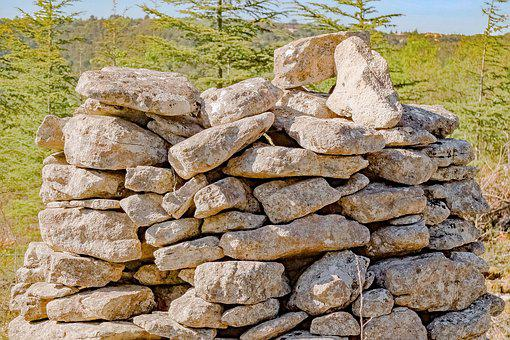 Stone, Pile, Heap, Texture, Old, Rock, Exterior, Nature