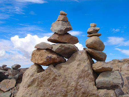 Pile Of Stones, Stacked, Heap Of Stones, Steenmannen