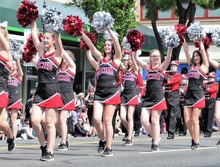 Parade, Cheerleaders, Pumpkins, Merry, Legs, Summer