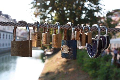 Locks, Love, Love Locks, Heart, Symbol, Romantic