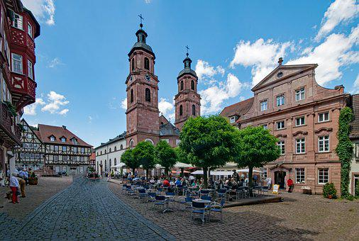 Marketplace, Parish Church, St Jacobus, Miltenberg